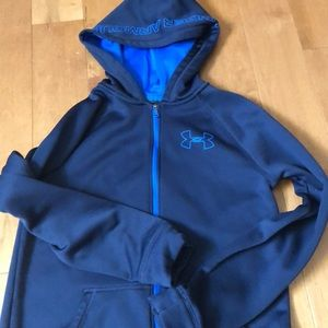 Under Armour Navy Zip Up Hoodie Youth Large